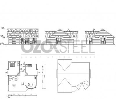 Selçuklu Hafif Çelik Villa -Ankara -100 m²