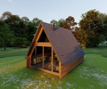 Üçgen Ev Hafif Çelik Villa -1-20 m²